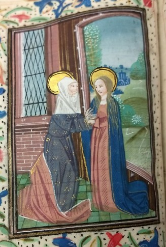 Visitation (Lauds, Hours of the Virgin), f. 32v