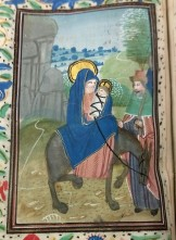 Flight into Egypt (Compline, Hours of the Virgin), f. 62v